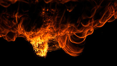 50 4K Organic Fire Compositing Elements For Any NLE