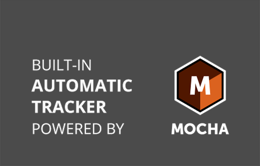 Built in automatic tracker powered by Mocha