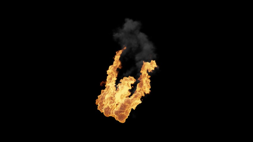 Assorted Fire And Explosion Compositing Elements