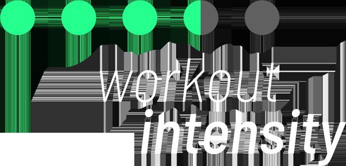 mFitness workourt intensity infographics