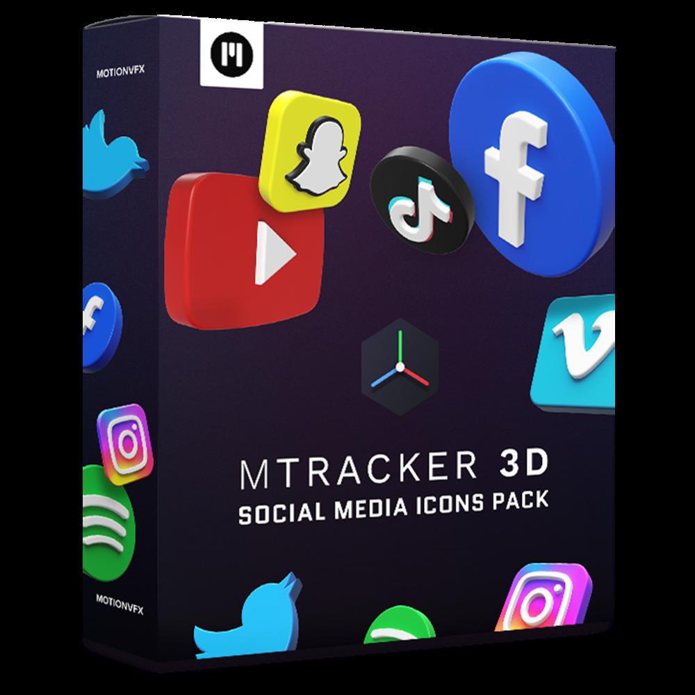 mTracker 3D Social Media Icons Pack