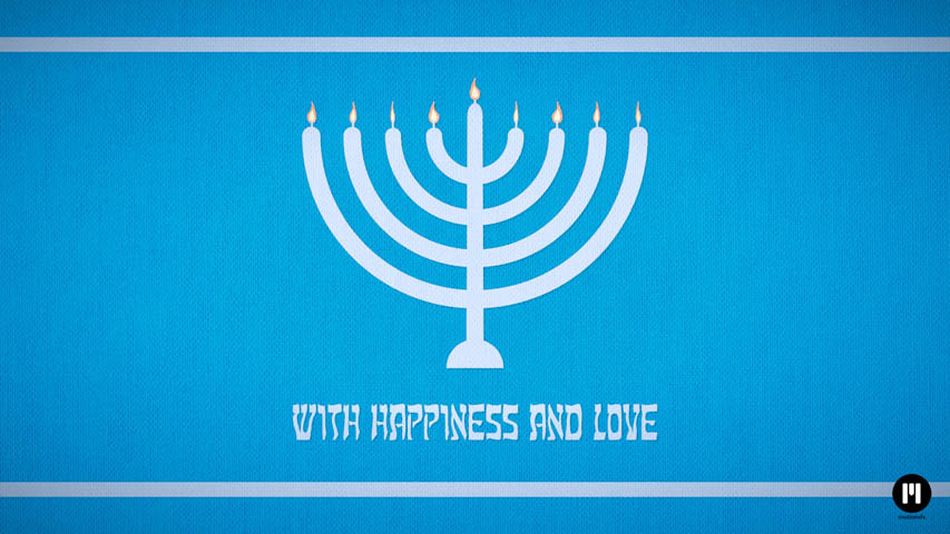 Happy Hanukkah Free Motion 5 Template