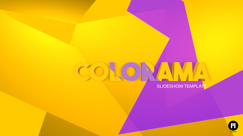 Colorama Slideshow Template for FCPX and Motion 5