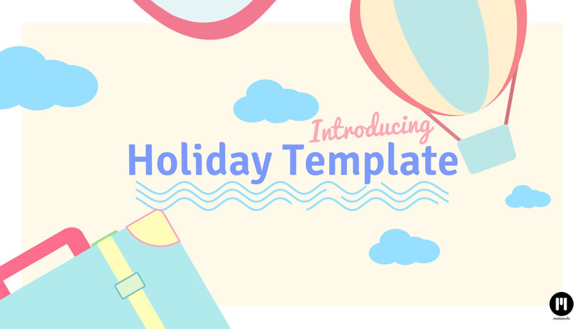 Flat Design Holiday Template for FCPX and Motion 5