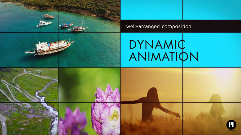 Footage Puzzle Template for After Effects CC