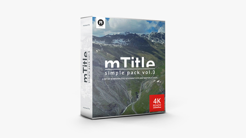 mTitle Simple Pack vol. 3