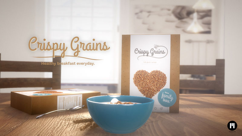 Cereal Commercial Template for mO2