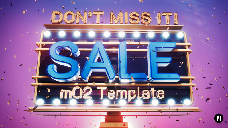 Sale on Billboards Template for mO2