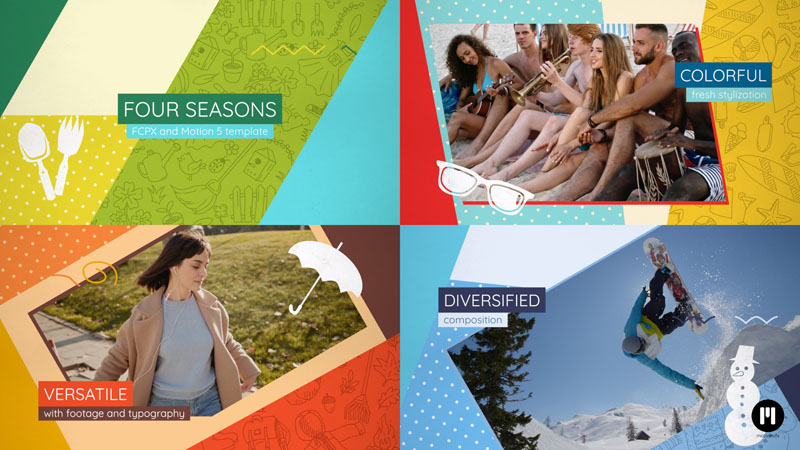 4 Seasons Slideshow Template for Motion 5 & FCPX