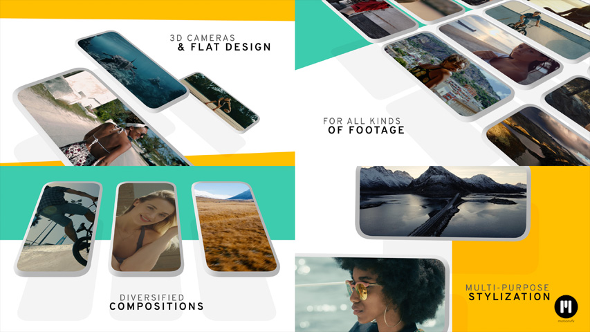 Floating Displays Modular Template for Apple Motion & FCPX