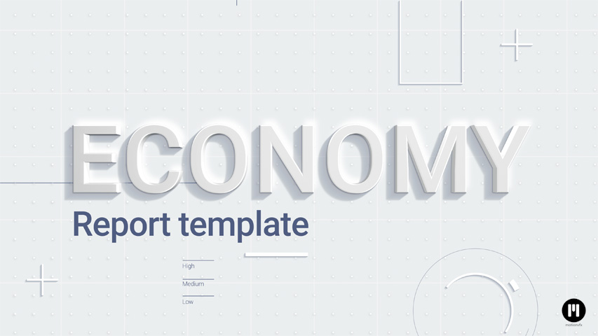 Economy Report Template for Apple Motion & FCPX