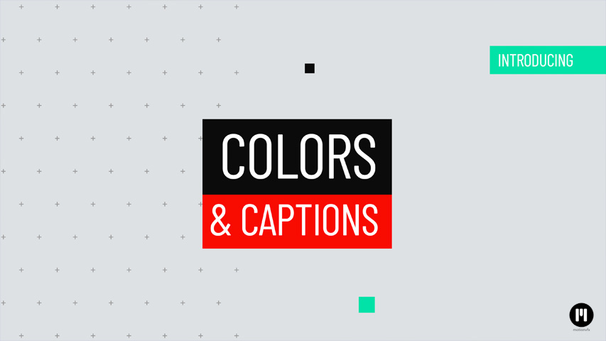 Colors & Captions Template for Apple Motion & FCPX