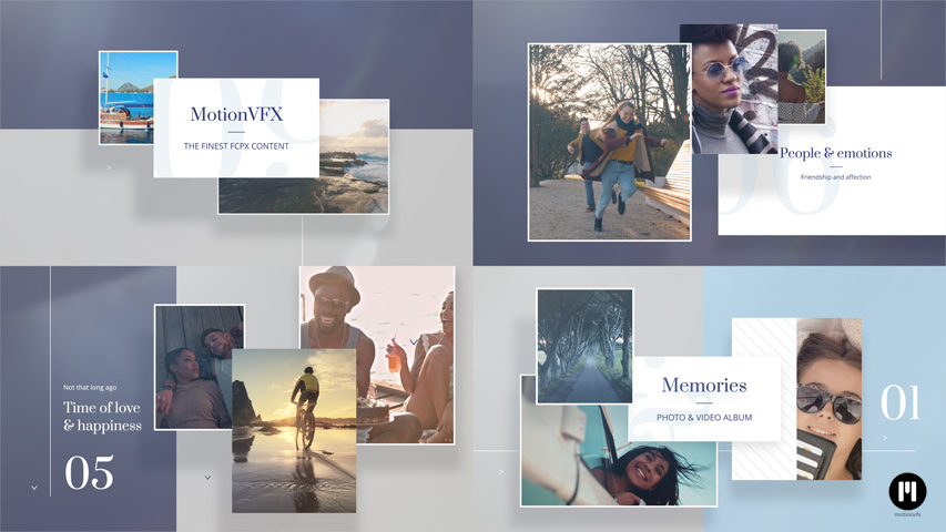 Memories Album Modular Template for Apple Motion & FCPX