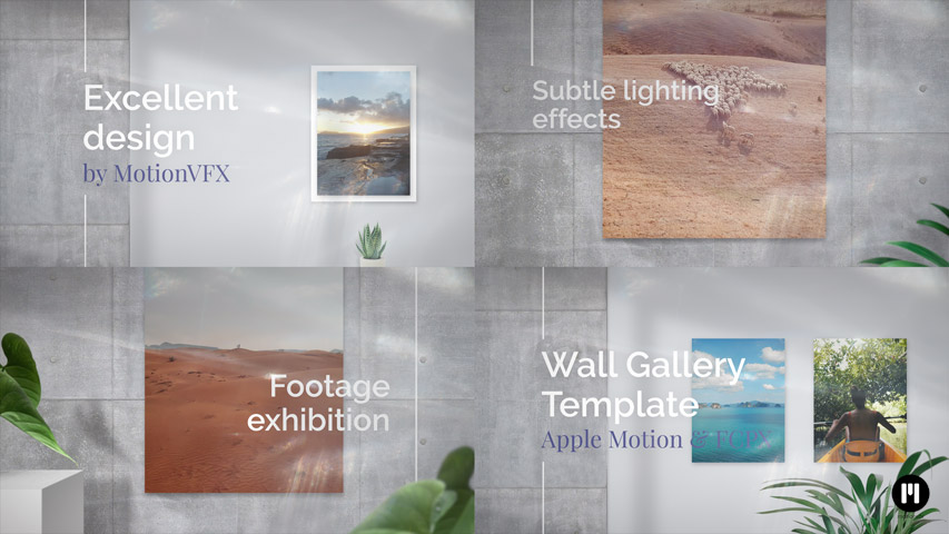 Wall Gallery Modular Template for Apple Motion & FCPX