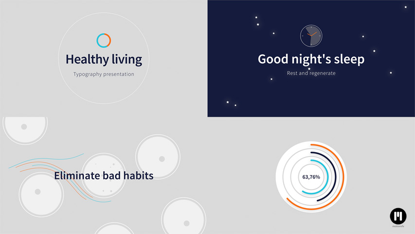 Healthy Living Modular Template for Apple Motion & FCPX