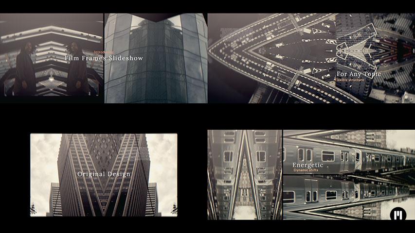 Film Frames Slideshow Modular Template for Apple Motion & FCPX