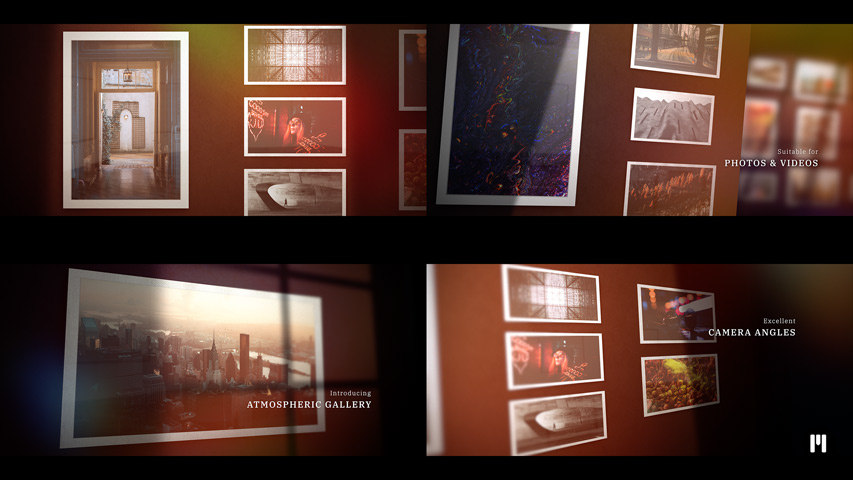 Atmospheric Gallery Modular Template for Apple Motion & FCPX