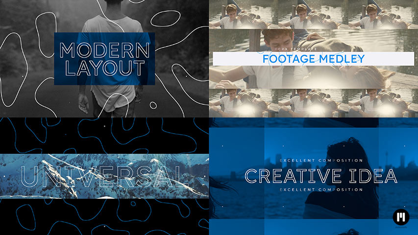 Footage Medley Modular Template for Apple Motion & FCPX