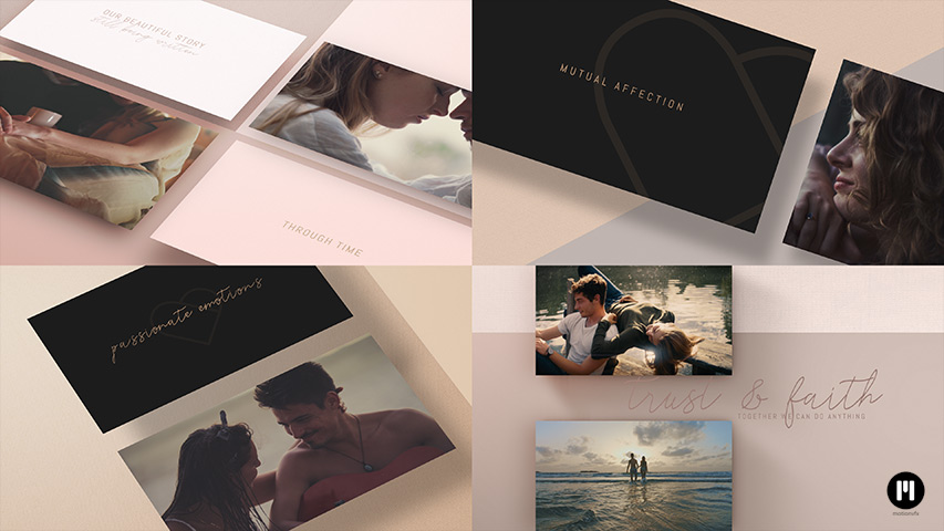 Valentine's Day Album Modular Template for Apple Motion & FCPX