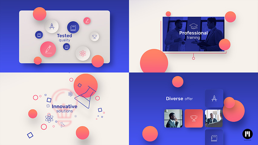 Modern Company Modular Template for Apple Motion & FCPX