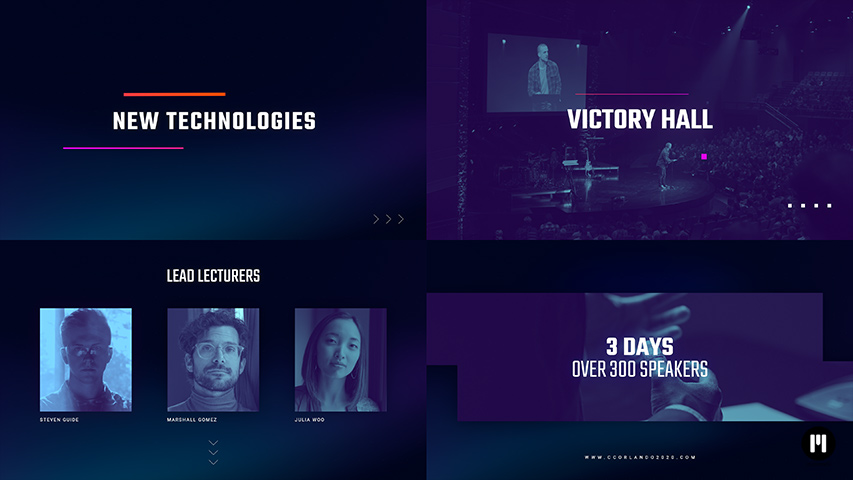 Conference Ad Modular Template for Apple Motion & FCPX