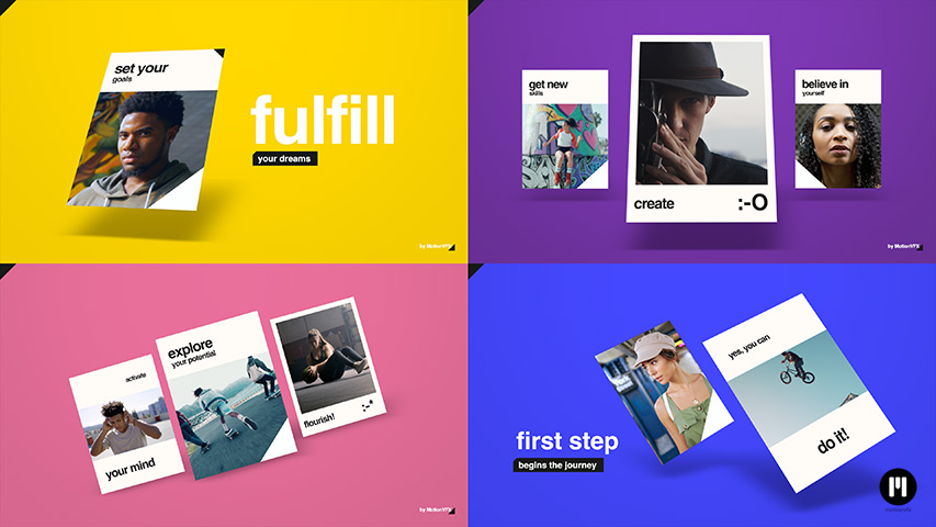Motivational Slideshow Modular Template for Apple Motion & FCPX