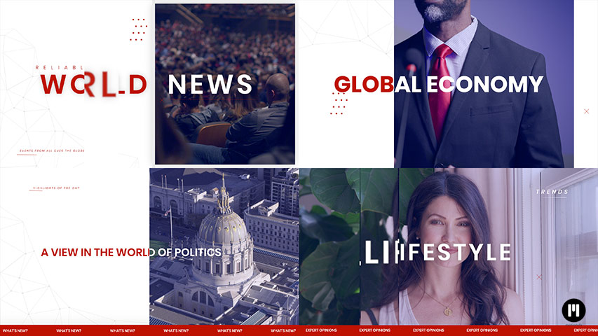 News Opener Modular Template for Apple Motion & FCPX