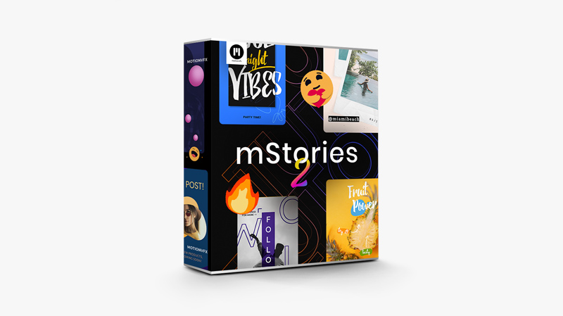 Over 60 Social Media Stories Exclusively For FCPX
